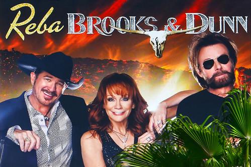 Reba, Brooks & Dunn in Las Vegas  at the Colosseum in Caesars Palace