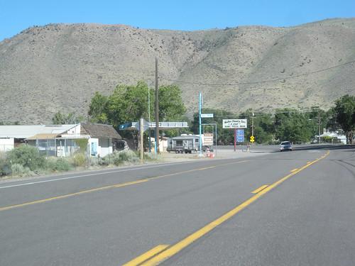 U.S. 395 passing through Walker, Mono County, California
