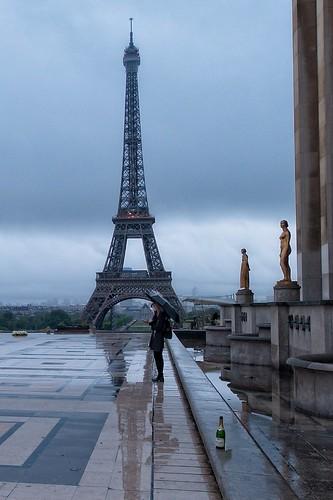 Girl with Umbrella at the Trocadero