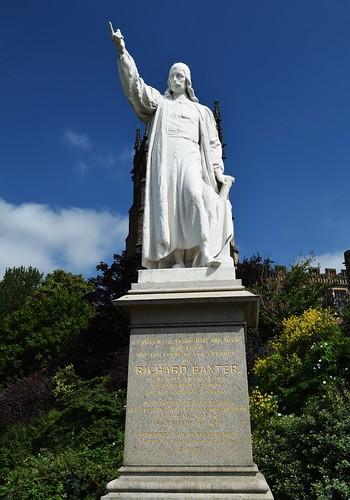 England. Worcestershire. Kidderminster.  Statue of Richard Baxter.