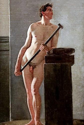 IMG_3319A Wilhelm Bendz 1804-1832 Danish  Modèle masculin   Male model. vers 1825 Copenhague Statens Museum for Kunst
