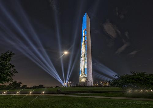 Apollo 11, 50th Anniversary, Washington Monument DC