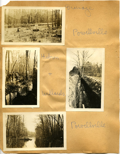 Scrapbook Page 4, Drainage Ditches in Powellville, Hebron, Willards, circa 1936