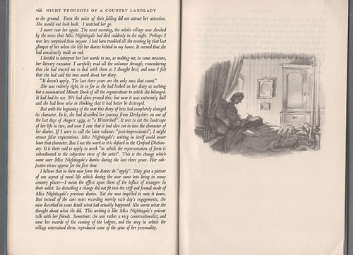 'Night Thoughts of a Country Landlady', Edith Olivier, illus. by Rex Whistler.
