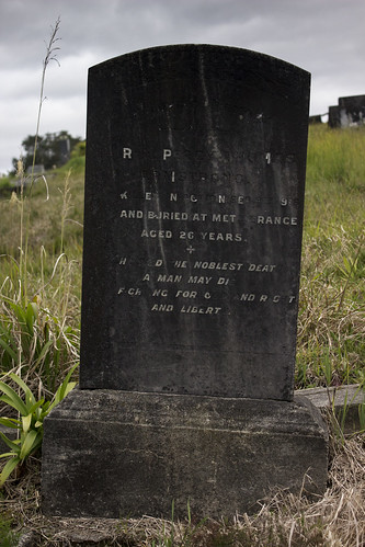 Memorial for Percy Armstrong