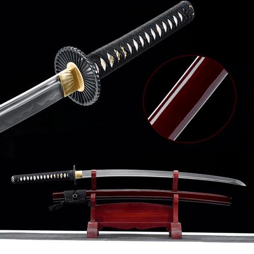 Akai Nendo Clay Tempered Katana Samurai Sword