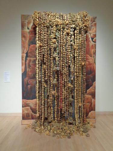 this took 988 hours to make using 650 bouquets. Gonzaga University Museum of Art, Spokane, Jamie Nadherny