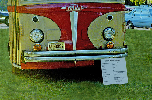 Red and Tan Bus, White Motor Company (1 of 3)