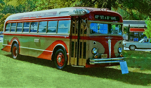 Red and Tan Bus, White Motor Company (2 of 3)
