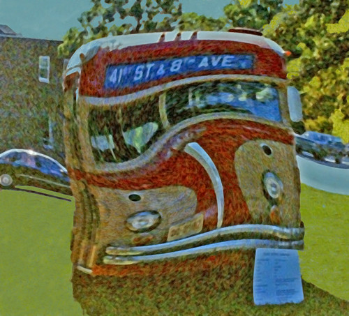 Red and Tan Twisted Bus, White Motor Company  (3 of 3)