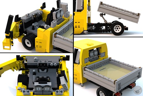 Super Kei Truck interior and bed - Large Scale - Lego
