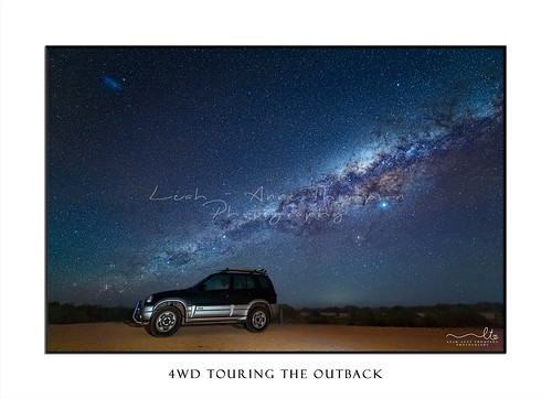 4WD in the outback under starry night skies
