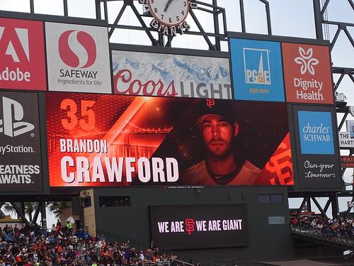 **San Francisco Giants Brandon Crawford 35 AT&T Park.