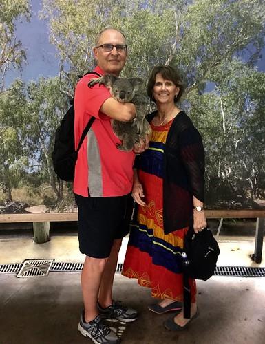 Larry & Kathy Koester holding a Koala 3-17-2019