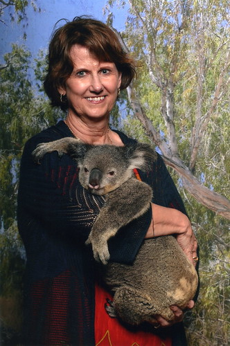 Kuranda Koala Gardens - Kathy Koester w Koala 3-17-2019