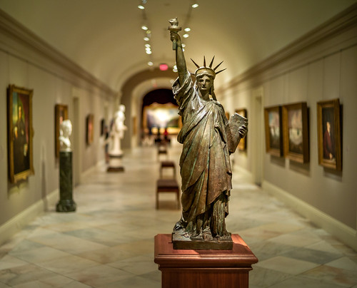 Frederic Auguste Bartholdi, Liberty, ca. 1884, painted terra cotta and tin