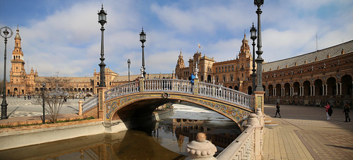Beautiful bridges representing the four ancient kingdoms of Spain