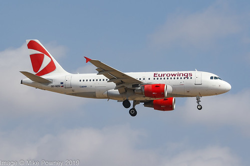 OK-NEN - 2008 build Airbus A319-112, in basic CSA colours but leased to Eurowings