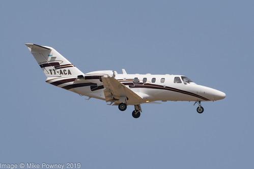 T7-ACA - 2000 build Cessna 525 Citation Jet CJ1, on approach to Runway 06L at Palma