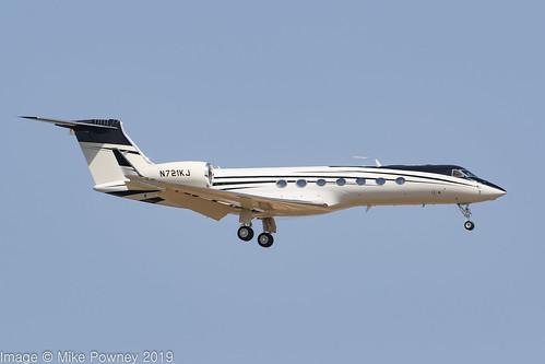 N721KJ - 2010 build Gulfstream G550, on approach to Runway 06L at Palma