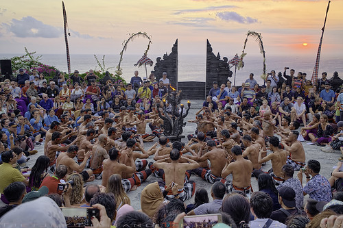 Kecak dance in crammed audience