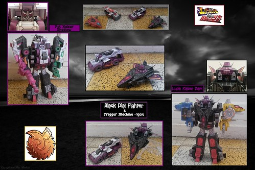 Black Dial Fighter & Trigger Machine -1Gou Papercraft - Lupinranger VS Patranger