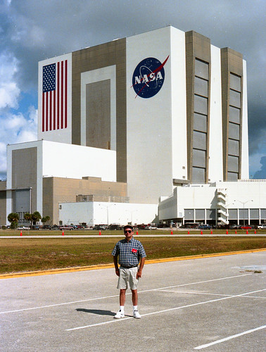me at Kennedy Space Center - July, 1999