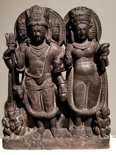Stele with Shiva and Parvati