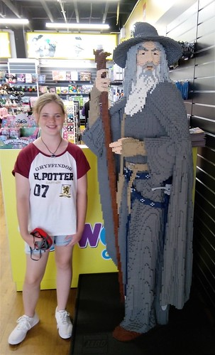 Lucy and Gandalf Auckland airport