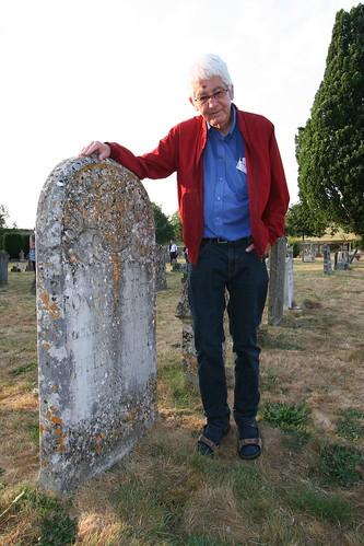 20180719 Mells, St Andrew's churchyard - McGuire, Brian, with Bonham-Carter gravestone
