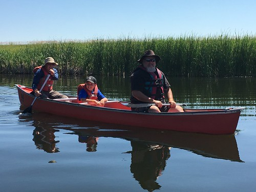 magness lucas and fam in canoe