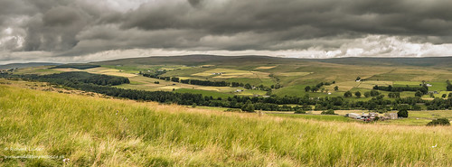 Hield House and Ettersgill from Holwick Fell Panorama Jul 2019