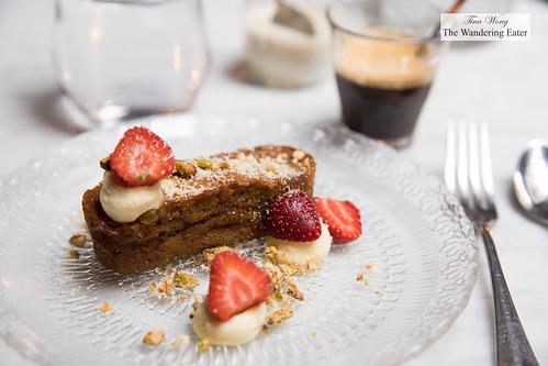 Carrot cake, Quebec strawberries, lemon cream