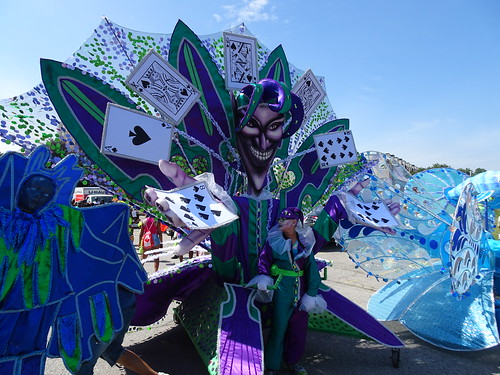 Junior Carnival masqueraders in Toronto  (front view)