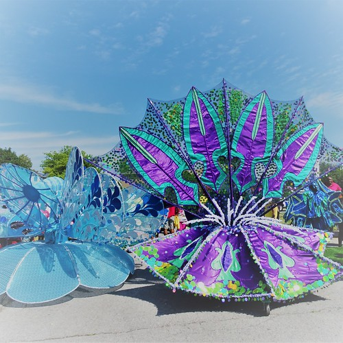 Junior Carnival masqueraders in Toronto  (back view)