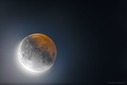 HDR: Earths Circular Shadow on the Moon
