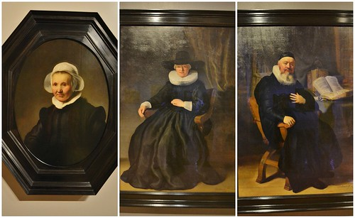 From Left to Right: Portrait of Aeltje Uylenburg, Maria Bockenolle, and Reverend Johannes Elison by Rembrandt van Rijn, In the Age of Rembrandt, Royal Ontario Museum, Toronto, ON