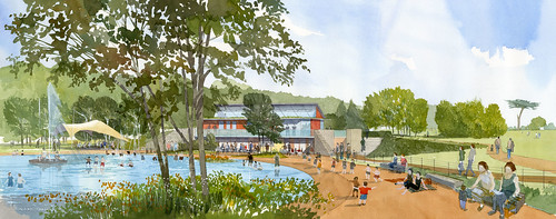 Artist Impression of Proposed Pools and Hub