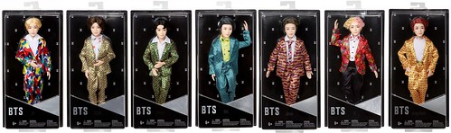 BTS Mattel dolls full group