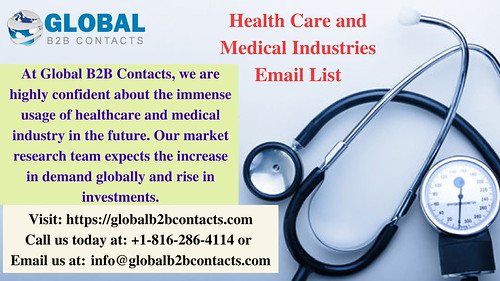 health care and medical industries email list