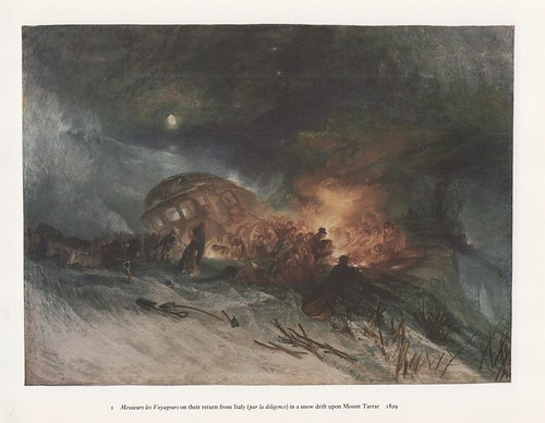'Caught in a Snowdrift', by JMW Turner, 1829.