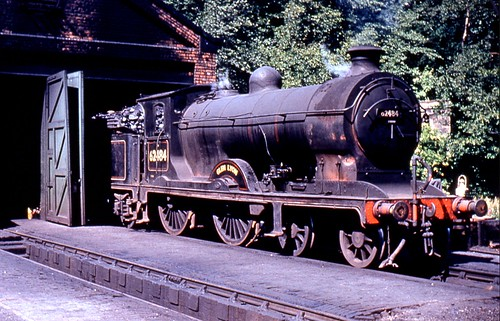 BR 4-4-0 No. 62484 'Glen Lyon' (LNER Reid D34, NBR Class K) at Galashiels Shed, May, 1959. (R W Lynn collection).