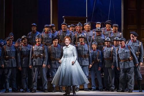 Sabine Devieilhe as Maria in La Fille du régiment, The Royal Opera © 2019 ROH. Photograph by Tristram Kenton