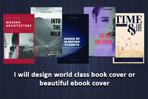I will design world class book cover or beautiful ebook cover