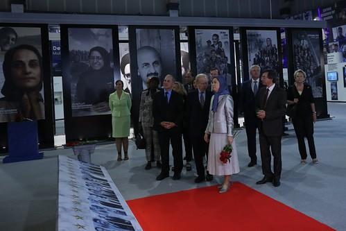 Maryam Rajavi, Rudy Giuliani, Tom Ridge, Senator Joseph Lieberman, Louis Freeh, Ingrid Betancourt, Michèle  Allio-Marie, Rama Yade, Hadassah Lieberman, and Maria Ryan