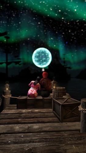 Looking at the moonlight
