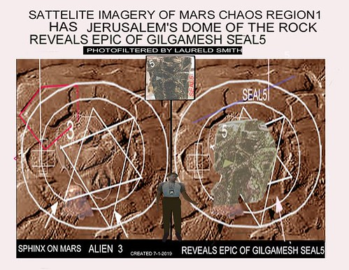 35A27-MARS AERIAL VIEWED CHAOS REGION REVEALS EPIC OF GILGAMESH SEAL5