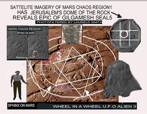 MARS CHAOS RWGION LANDSURFACE GIZA SPHINX7 & DOMEOF THEROCK