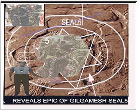 MARS AERIAL VIEWED CHAOS REGIONS  HAS GIZA SPHINX & EPIC OFVGILGAMESH ELONGATED HEADED ALIEN CRESTOR OF AFRICAN ADAM-0369N43100