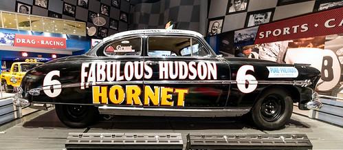 FABULOUS HUDSON HORNET - MOTORSPORTS  HALL OF FAME OF AMERICA MUSEM